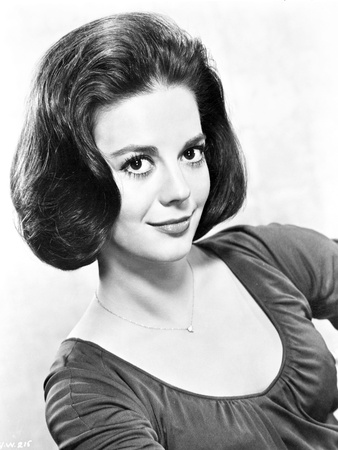 Natalie Wood wearing Necklace in Black and White Photo by  Movie Star News