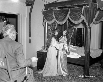 Behind the scenes of Mourning Becomes Electra. Photo by  Movie Star News