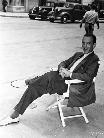 Fred Astaire Seated on Chair Black and White Photo by A Kahle