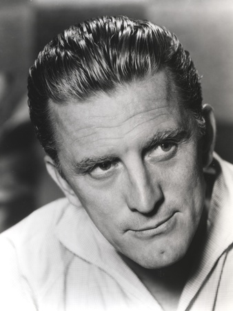 Kirk Douglas in White Polo Close Up Portrait Photo by  Movie Star News