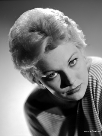 Kim Novak in Stripes Shirt Close Up Portrait Photo by  Movie Star News