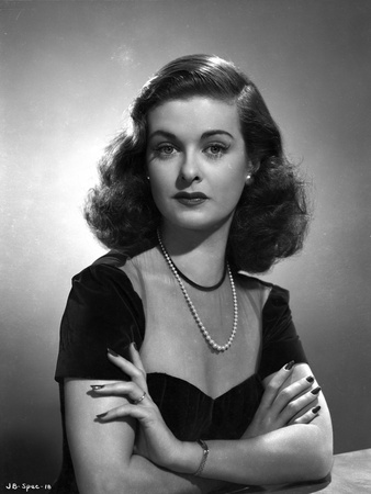 Joan Bennett Crossing Arms on Check Portrait Photo by  Movie Star News
