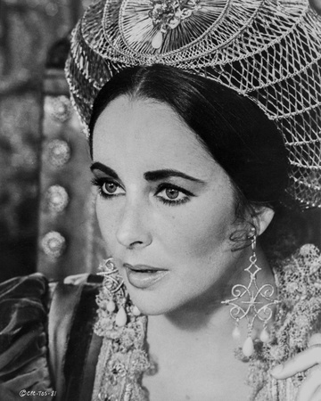 Elizabeth Taylor Portrait in Dress with Tiara Photo by Bob Penn