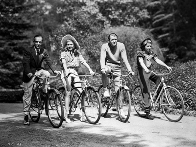 Fred Astaire and Ginger Rogers Riding Bike Photo by  Movie Star News