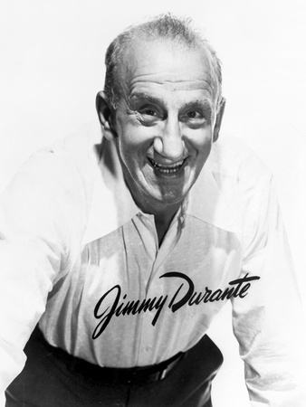Jimmy Durante in White With White Background Photo by  Movie Star News