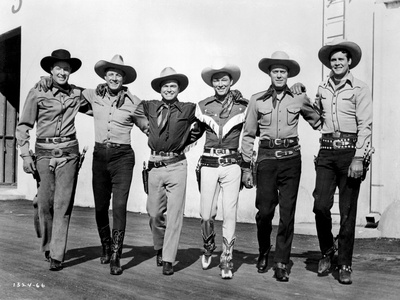 Roy Rogers posed with Men in Black and White Photo by  Movie Star News
