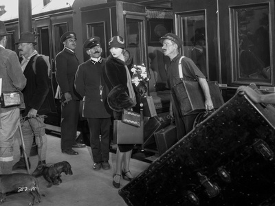 Greta Garbo Movie Scene at the Train Station Photo by Bert Longworth