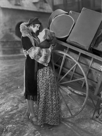 Greta Garbo hugging an Old Woman Movie Scene Photo by Bert Longworth