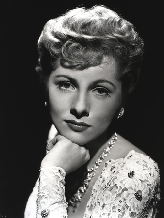 Joan Fontaine Leaning on a Close up Portrait Photo by  Movie Star News