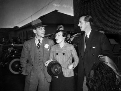 Fred Astaire Conversing in Black and White Photo by  Movie Star News