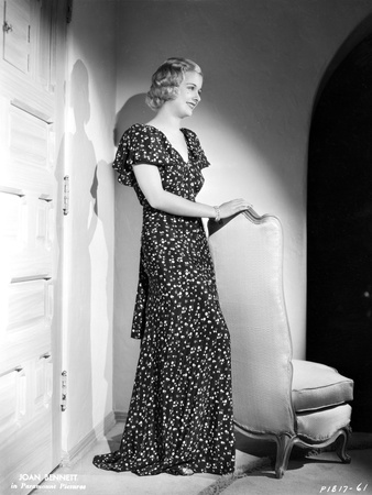 Joan Bennett wearing a Long Glittering Dress Photo by  Movie Star News