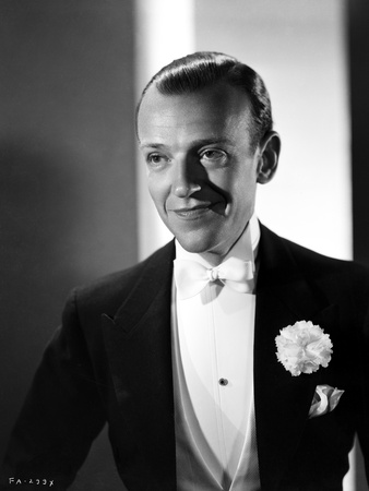Fred Astaire Posed Smile in Black and White Photo by E Bachrach