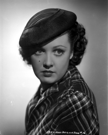 Pat Farr on Checkered Top with Hat Portrait Photo by  Movie Star News