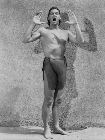 Johnny Weissmuller Portrait in Tarzan Outfit Photo by  Movie Star News