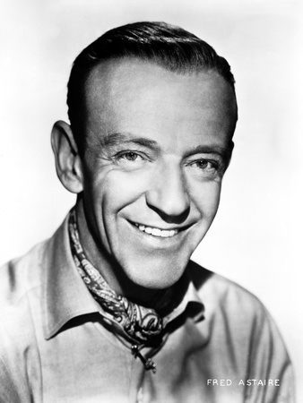 Fred Astaire with Spontaneous Smile in Shirt Photo by Bud Fraker