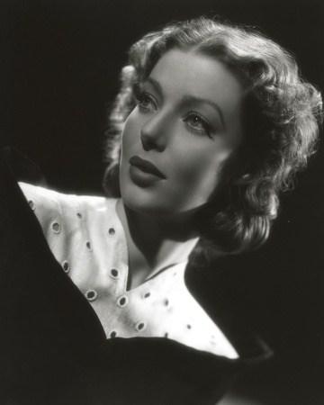 Loretta Young Vintage Black and White Dress Photo by  Movie Star News