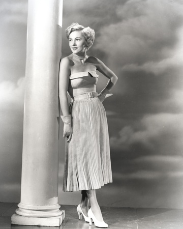 Joan Fontaine wearing a Strapless Dress Photo by  Movie Star News