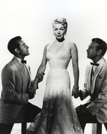 Lana Turner with Two Gentleman Portrait Photo by  Movie Star News