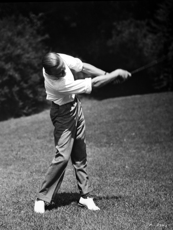 Fred Astaire Playing Golf in White Shirt Photo by J Miehle