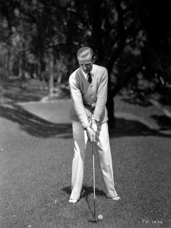 Fred Astaire Playing Golf in White Pants Photo by J Miehle