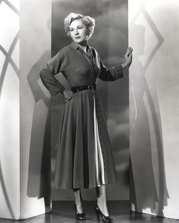 Joan Fontaine standing Between Two Post Photo by  Movie Star News