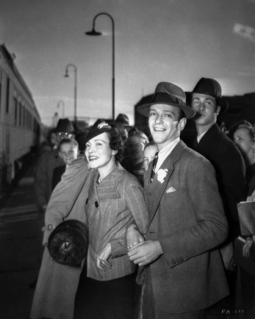 Fred Astaire Waiting for Train in Suit Photo by  Movie Star News