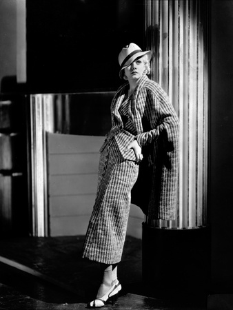 Jean Harlow Posed in Suit Dress and Hat Photo by  Movie Star News