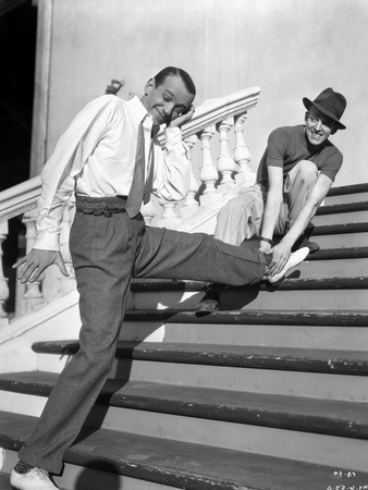 Fred Astaire Stretching in Black and White Photo by  Hendrickson