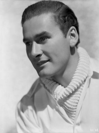 Errol Flynn Looking Side Ways in Classic Photo by Elmer Fryer