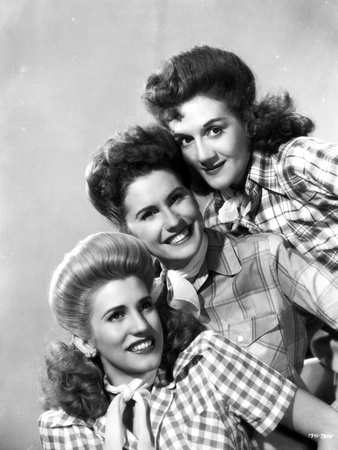 Andrew Sisters on Checkered Top Portrait Photo by  Movie Star News