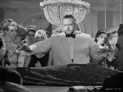 Orson Welles Group Posed in Classic Photo by Douglas Webb