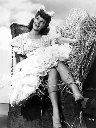 Dinah Shore Seated in Black and White Photo by  Movie Star News
