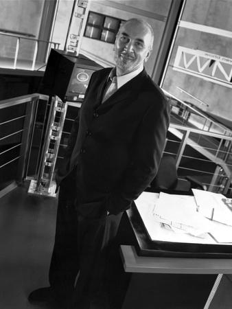 Frank Langella standing in Black Suit Photo by  Movie Star News