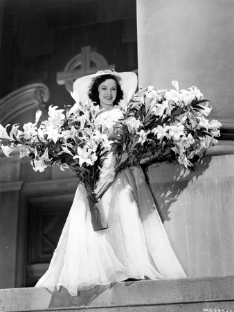 Kathryn Grayson on Gown with Flowers Photo by  Movie Star News