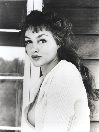 Julie Newmar in White Dress Portrait Photo by  Movie Star News