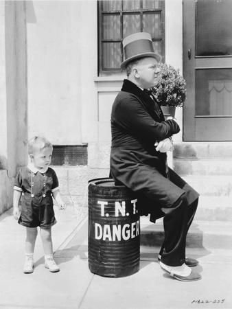 W C Fields Man sitting on in Danger Can Photo by  Movie Star News