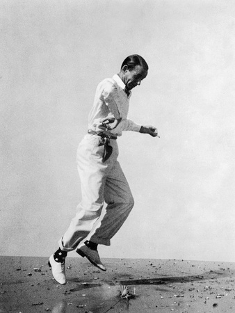 Fred Astaire Leaping in Black and White Photo by Glen Richardson