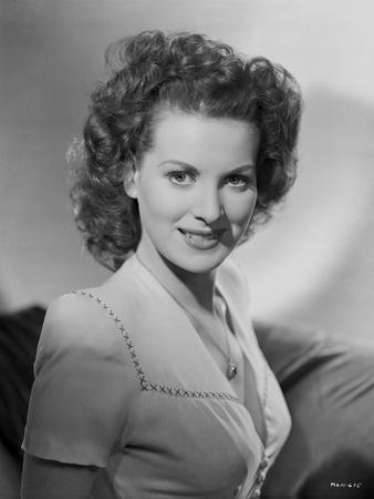 Maureen O'Hara in Whit Gown Portrait Photo by E Bachrach