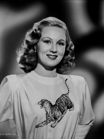 Virginia Mayo Posed in Printed Blouse Photo by  Movie Star News
