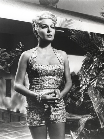 Lana Turner Portrait in Floral Dress Photo by  Movie Star News