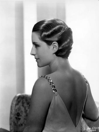Norma Shearer Portrait in Sexy Dress Foto af  Movie Star News