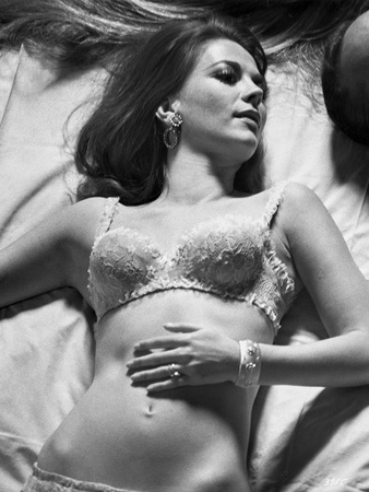 Natalie Wood Lying in Black and White Photo by  Movie Star News