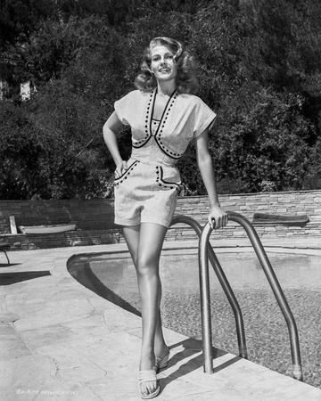 Rita Hayworth Posed in Dress Photo by  Movie Star News
