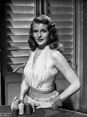 Rita Hayworth Posed in Blouse Photo by Ned Scott