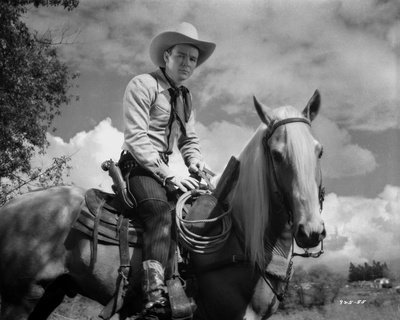 Roy Rogers Riding on a Horse Photo by  Movie Star News