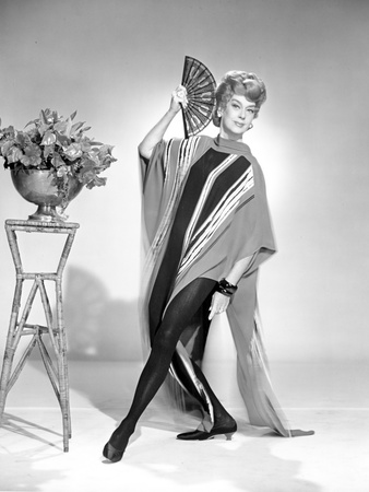 Rosalind Russell posed with Fan Photo by  Movie Star News