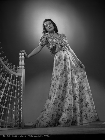 Rita Hayworth Posed in a Gown Photo by A.L. Schafer