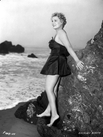 Shirley Booth Leaning on a Rock Photo by  Movie Star News