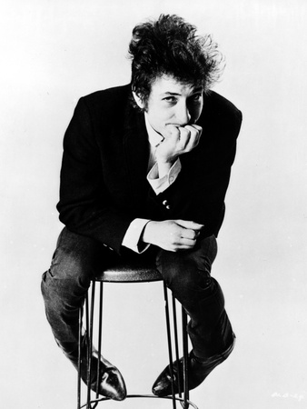 Bob Dylan Seated in Classic Photo by  Movie Star News