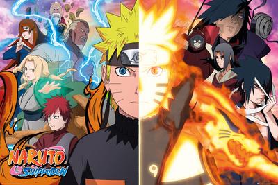 Naruto Shippuden- Divided Sides Prints